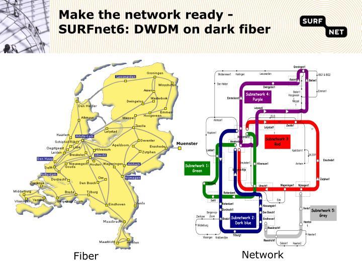 Make the network ready -SURFnet6: DWDM on dark fiber