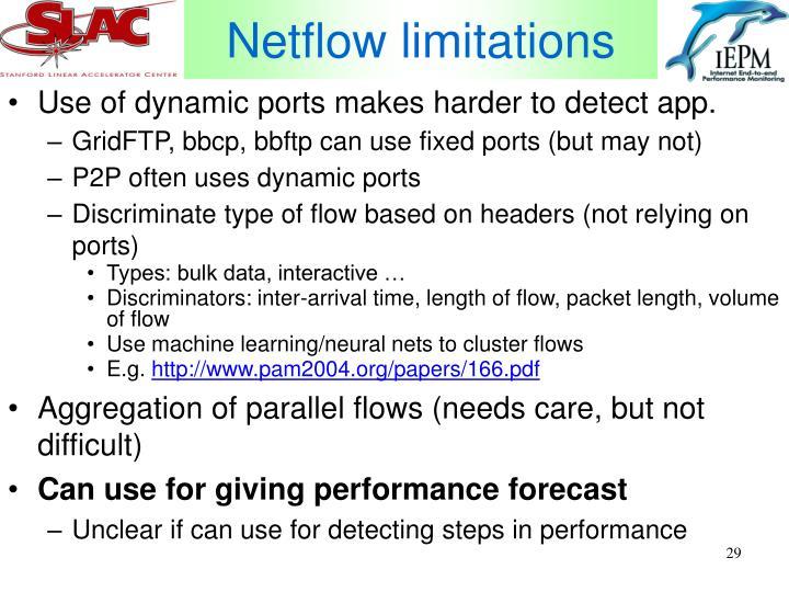 Netflow limitations