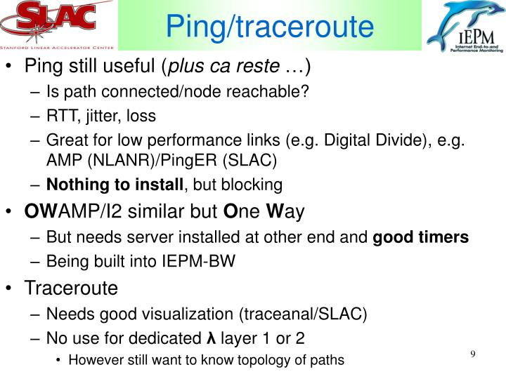 Ping/traceroute
