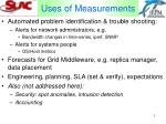 uses of measurements