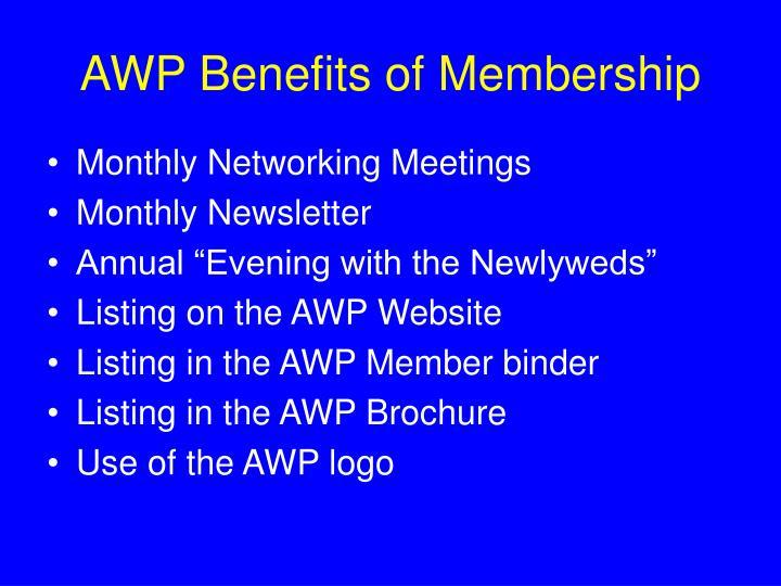AWP Benefits of Membership