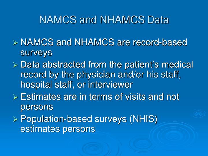 NAMCS and NHAMCS
