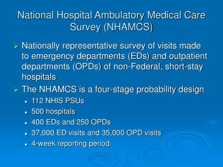National Hospital Ambulatory Medical Care Survey (NHAMCS)