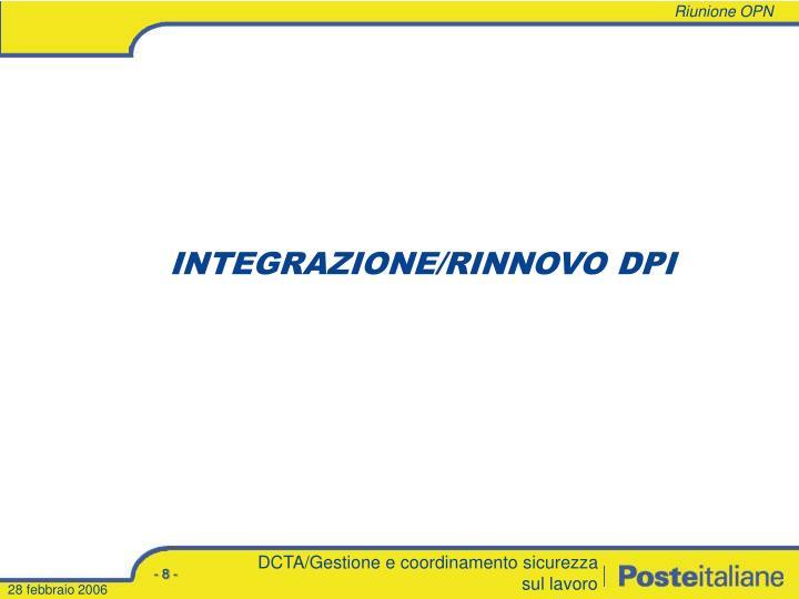 INTEGRAZIONE/RINNOVO DPI