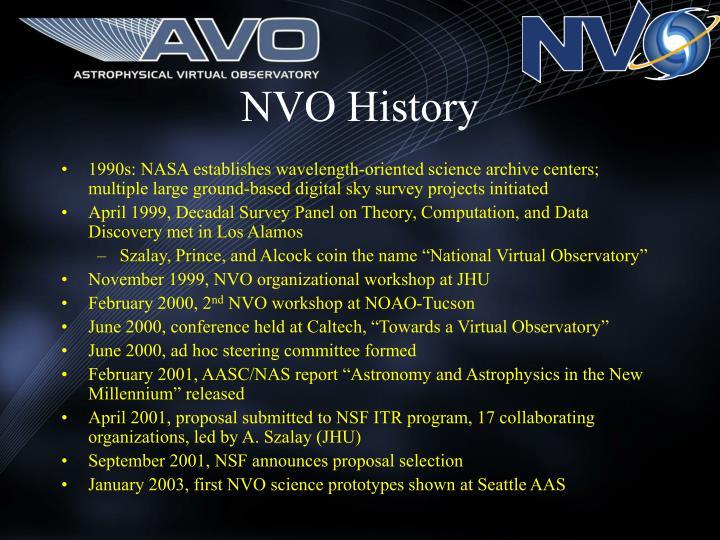 NVO History