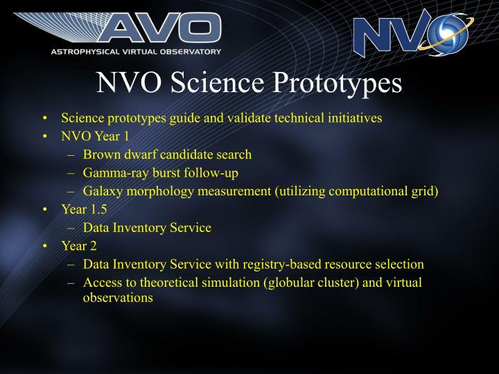 NVO Science Prototypes