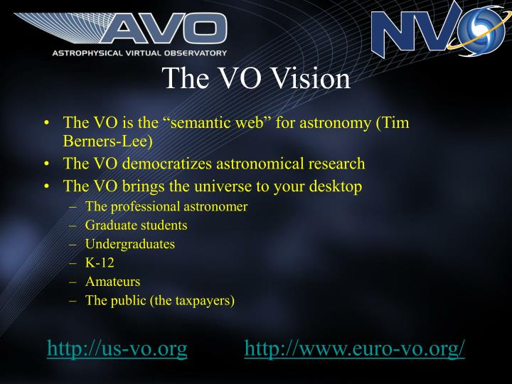 The VO Vision