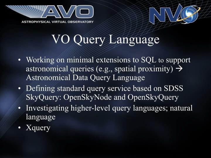 VO Query Language