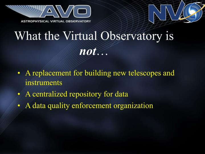 What the Virtual Observatory is