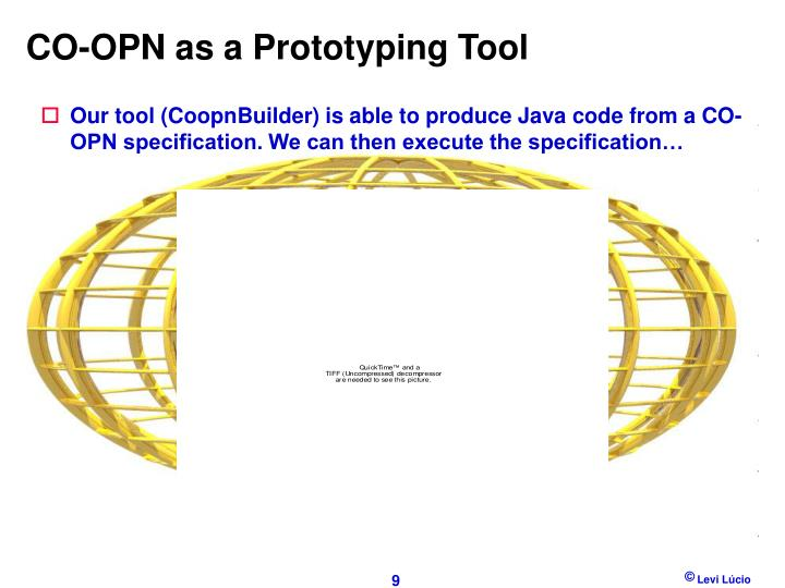 CO-OPN as a Prototyping Tool