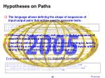 hypotheses on paths
