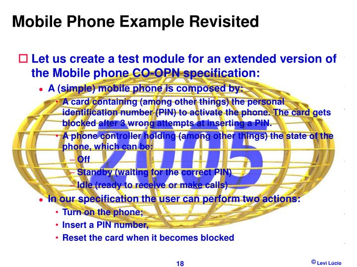 Mobile Phone Example Revisited