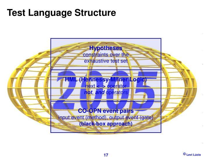 Test Language Structure