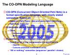 the co opn modeling language