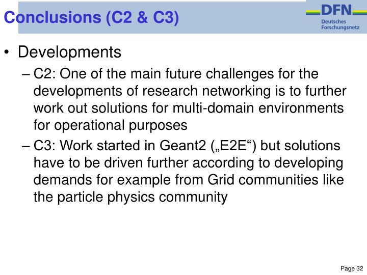 Conclusions (C2 & C3)
