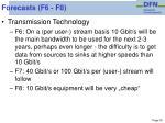 forecasts f6 f8