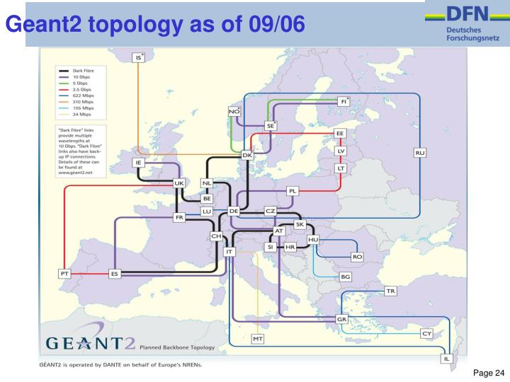 Geant2 topology as of 09/06