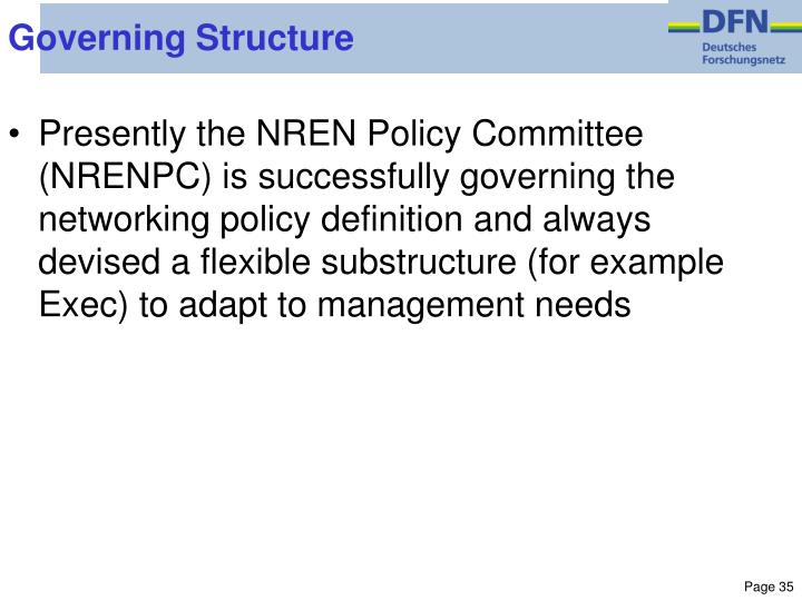 Governing Structure