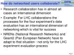 how do networked users collaborate