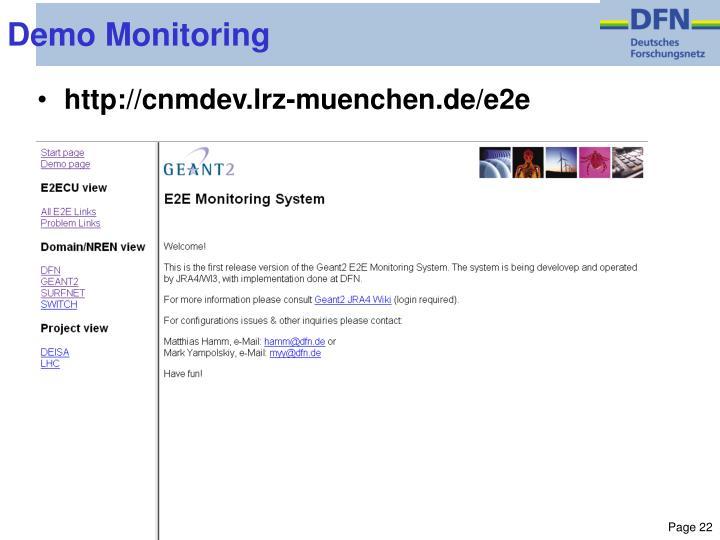 Demo Monitoring