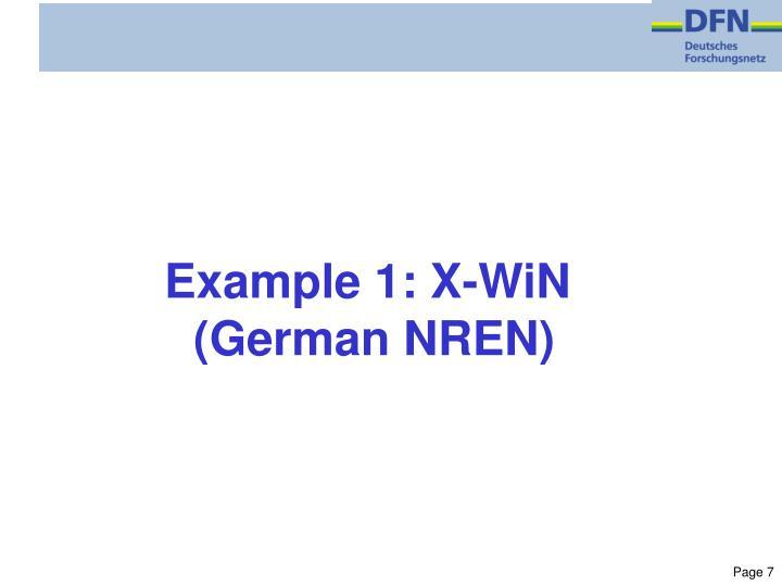 Example 1: X-WiN
