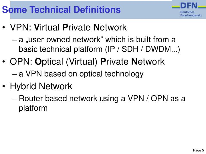 Some Technical Definitions
