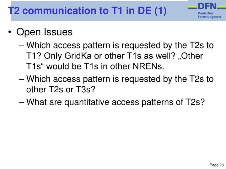 T2 communication to T1 in DE (1)