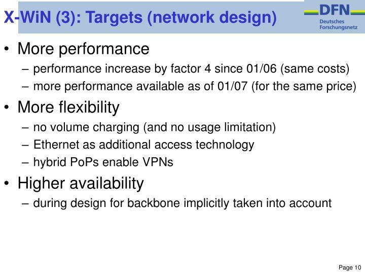 X-WiN (3): Targets (network design)