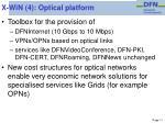 x win 4 optical platform