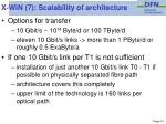 x win 7 scalability of architecture