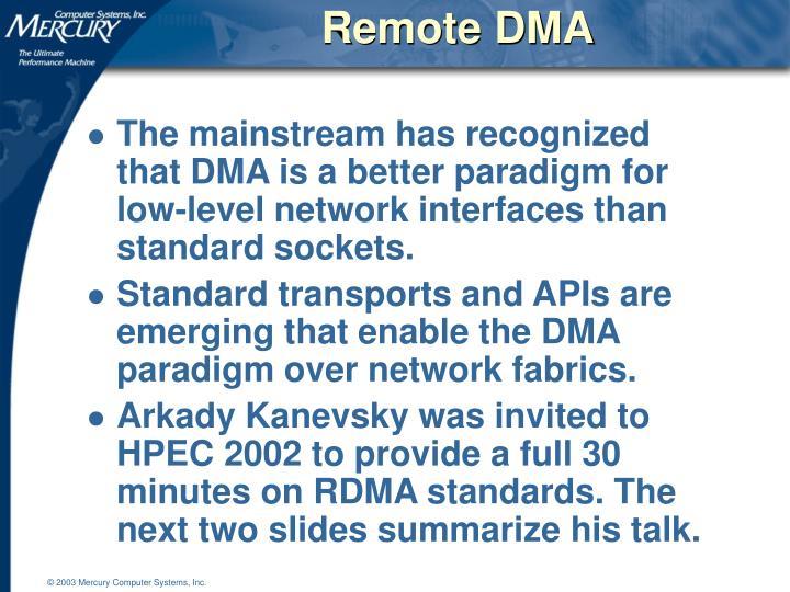 Remote DMA