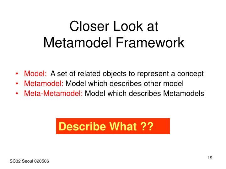 Closer Look at Metamodel Framework