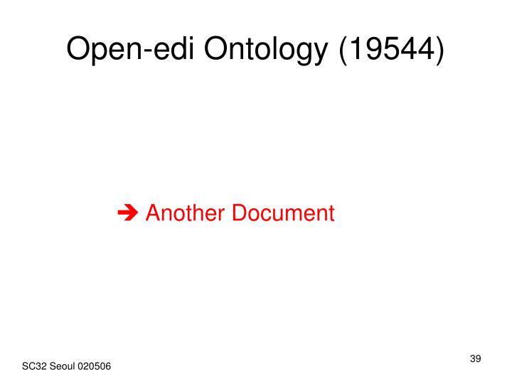Open-edi Ontology (19544)