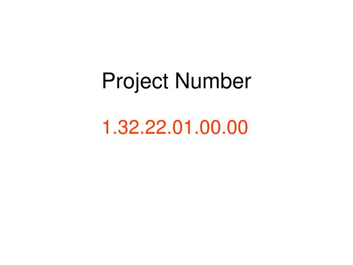 Project Number