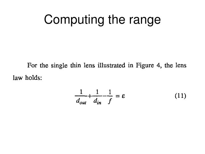 Computing the range