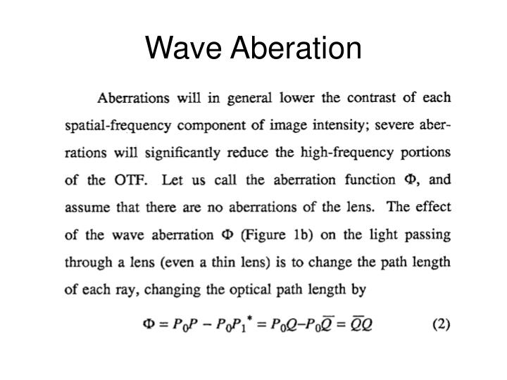 Wave Aberation