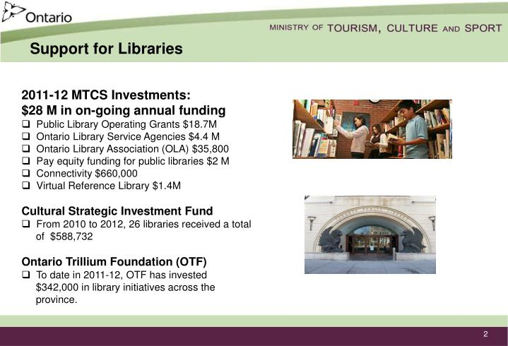 Support for Libraries