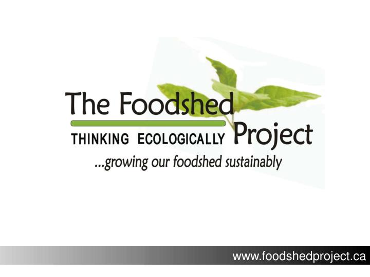 Www.foodshedproject.ca