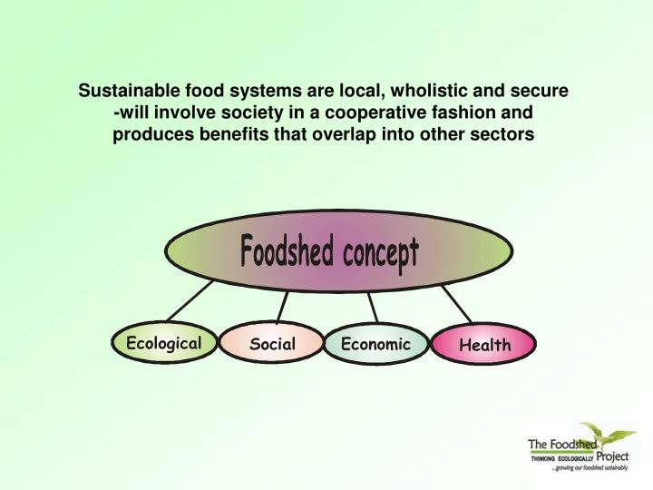 Sustainable food systems are local, wholistic and secure