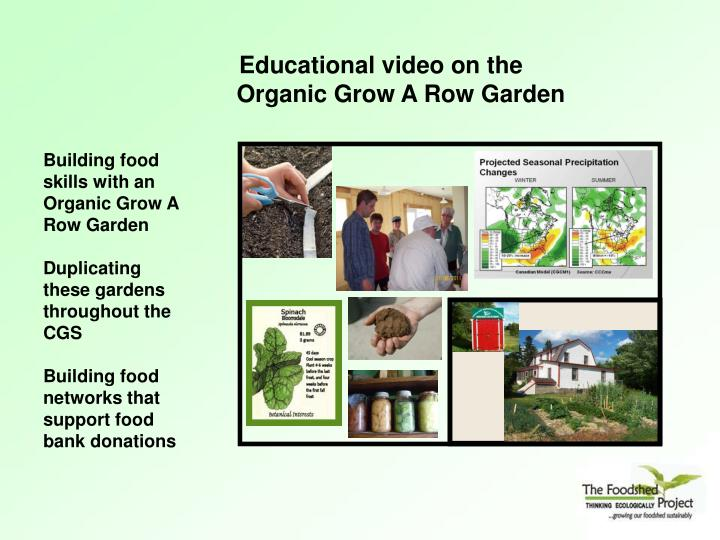 Building food skills with an Organic Grow A Row Garden