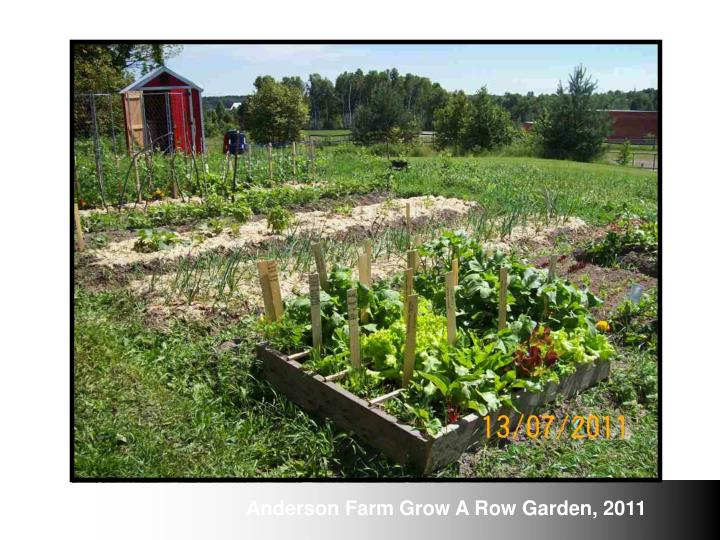 Anderson Farm Grow A Row Garden, 2011