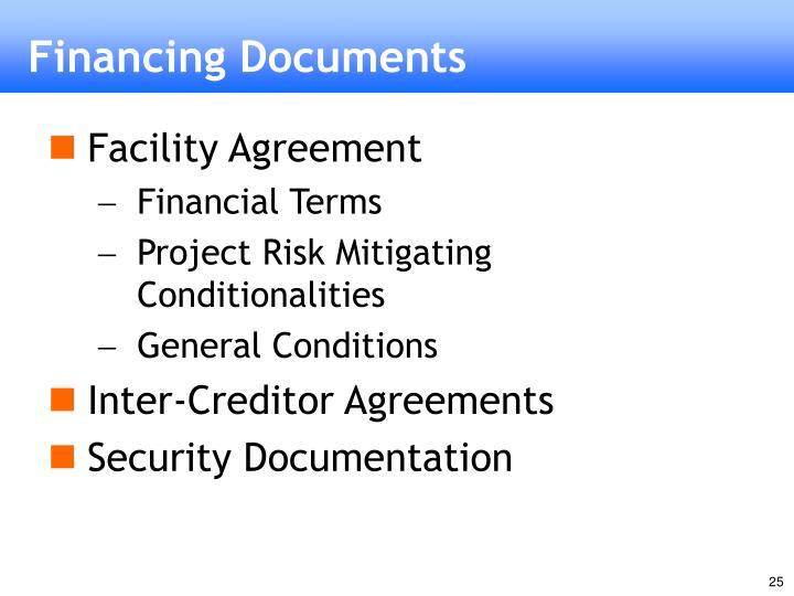 Financing Documents