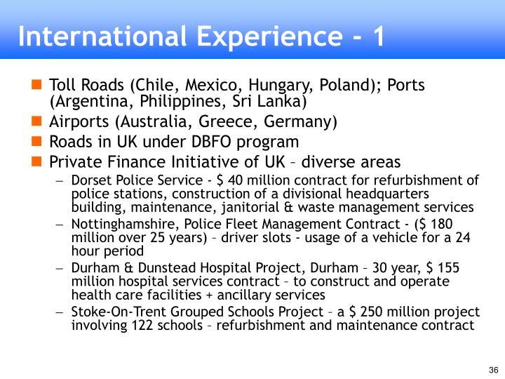 International Experience - 1