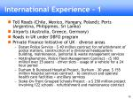international experience 1