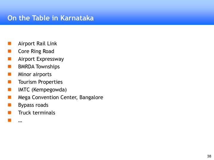 On the Table in Karnataka