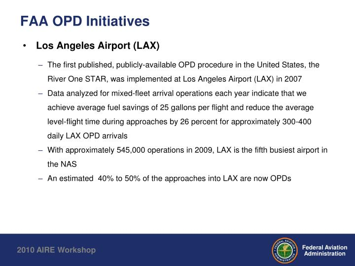 FAA OPD Initiatives
