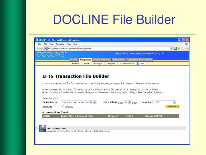 DOCLINE File Builder
