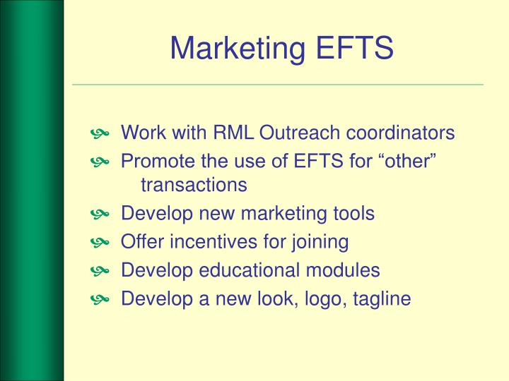 Marketing EFTS