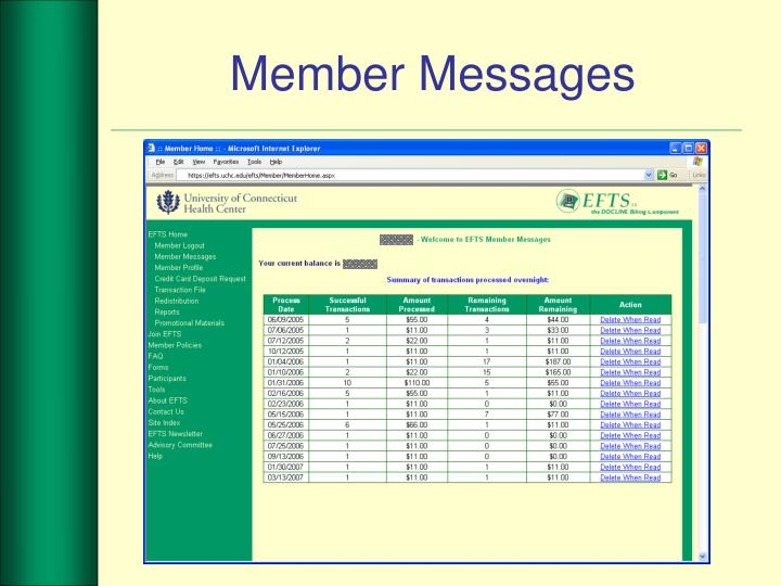 Member Messages