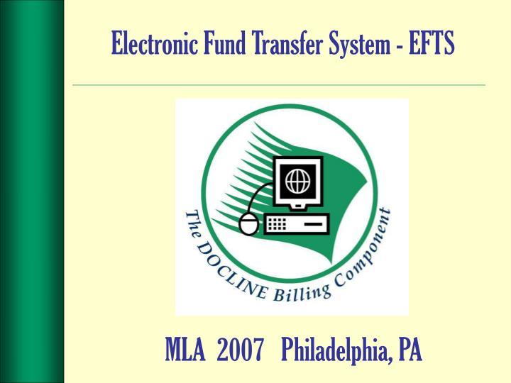 Electronic Fund Transfer System - EFTS